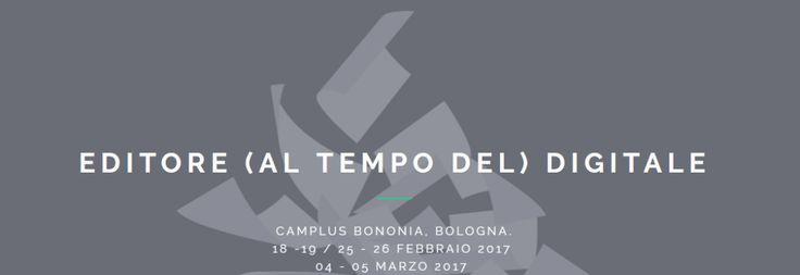 Editore al tempo del digitale a Bologna: ecco le date