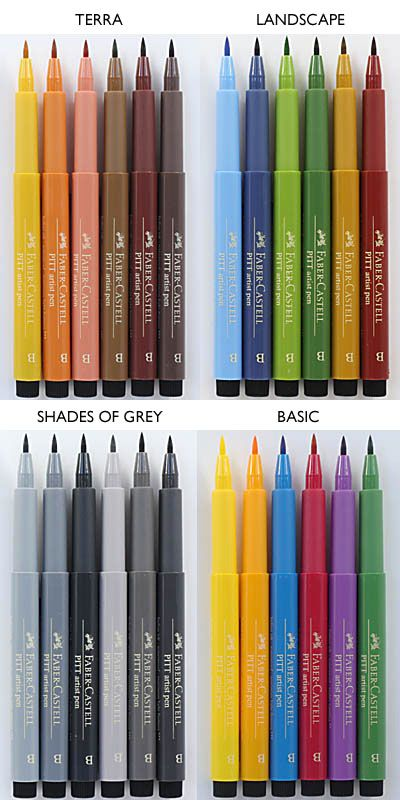 PITT artists' pens in Colour Sets - Faber Castell