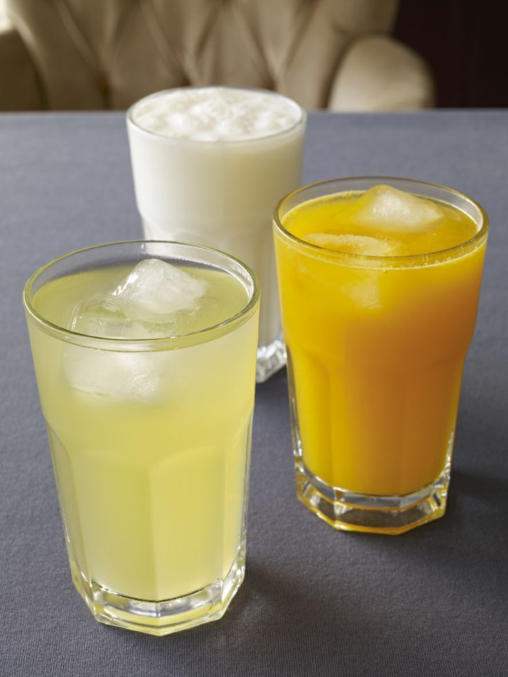 Yogurt drink - Lemonade - Freshly squeezed orange Juice
