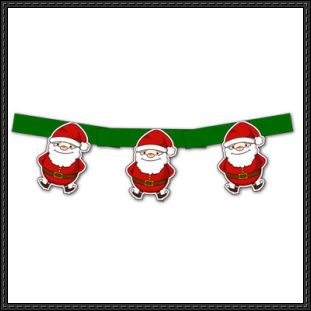 Canon Papercraft - Santa Claus Christmas Banner Free Template Download