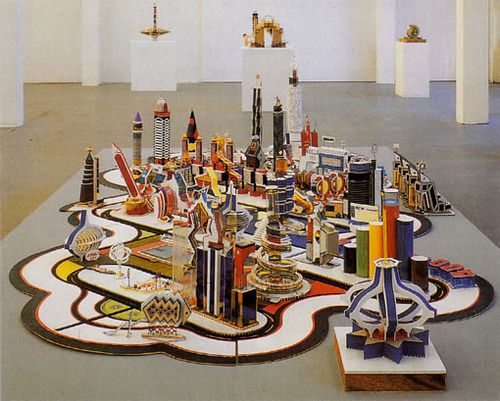 Le thème de la ville abordée en Arts Visuels (Bodys Isek Kingelez)