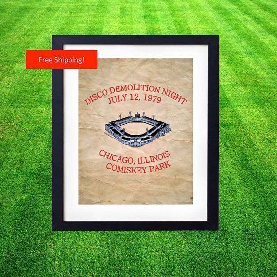Vintage Disco Demolition Night Chicago White Sox by ManCaveStore, $10.00