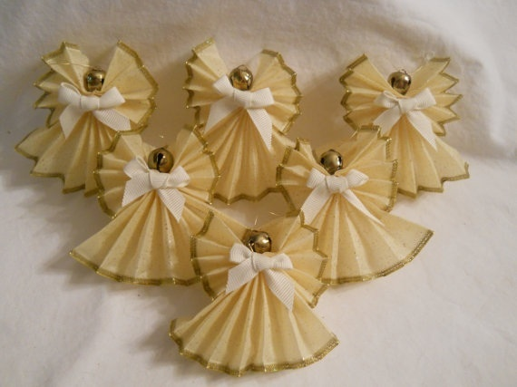 46 best christmas ribbon angel images on pinterest for Ribbon crafts to make