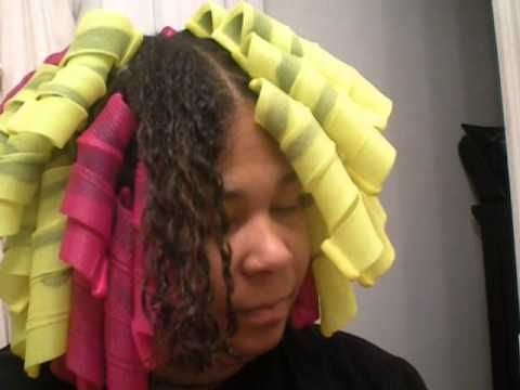 Curl Formers (extra wide and long curl formers on natural hair) - YouTube