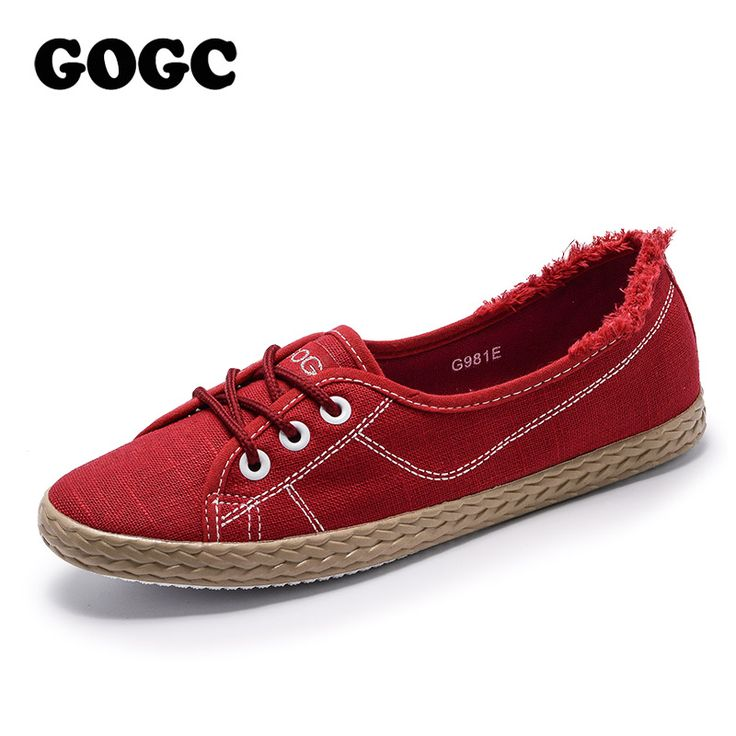 GOGC Brand Spring Summer Shoes Woman Flat Soft Design Shoes Women Luxury  2018 Women Slip on