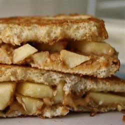 Grilled Peanut Butter Apple Sandwiches Allrecipes.com
