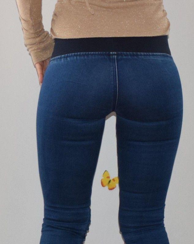 Dunkle Jeans Jeggings - Kleiderkreisel