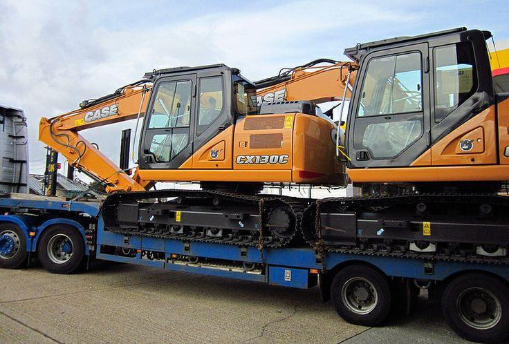 CASE excavators on low loader March 2014