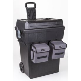 Kobalt Zerust 19-in Black Plastic Lockable Wheeled Tool Box