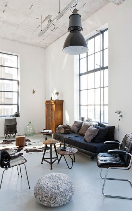 + #living #style_mix #interior #brightly #factory_floor