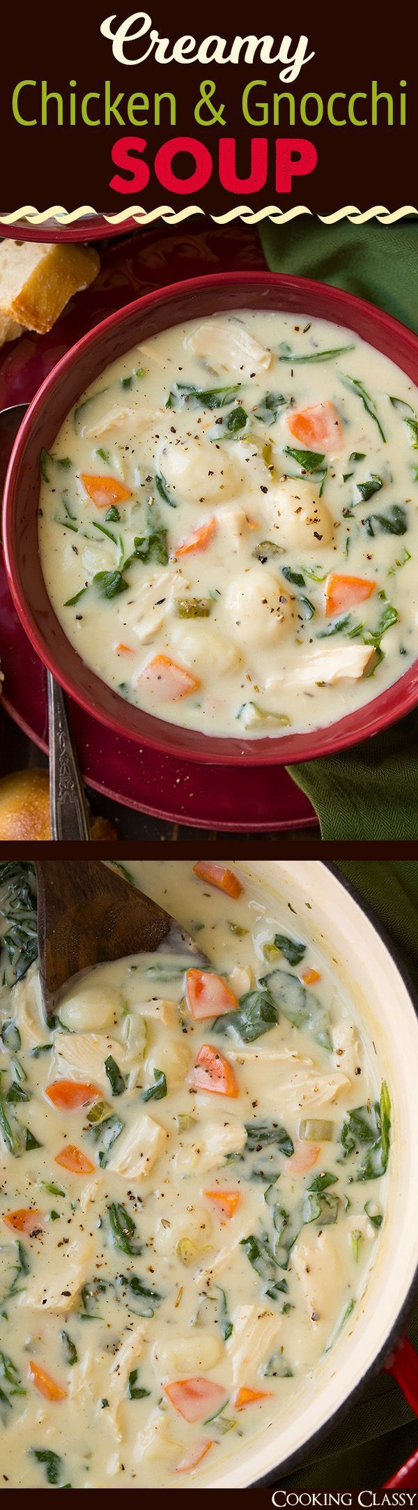 Creamy Chicken and Gnocchi Soup (Olive Garden Copycat)  Cooking Classy