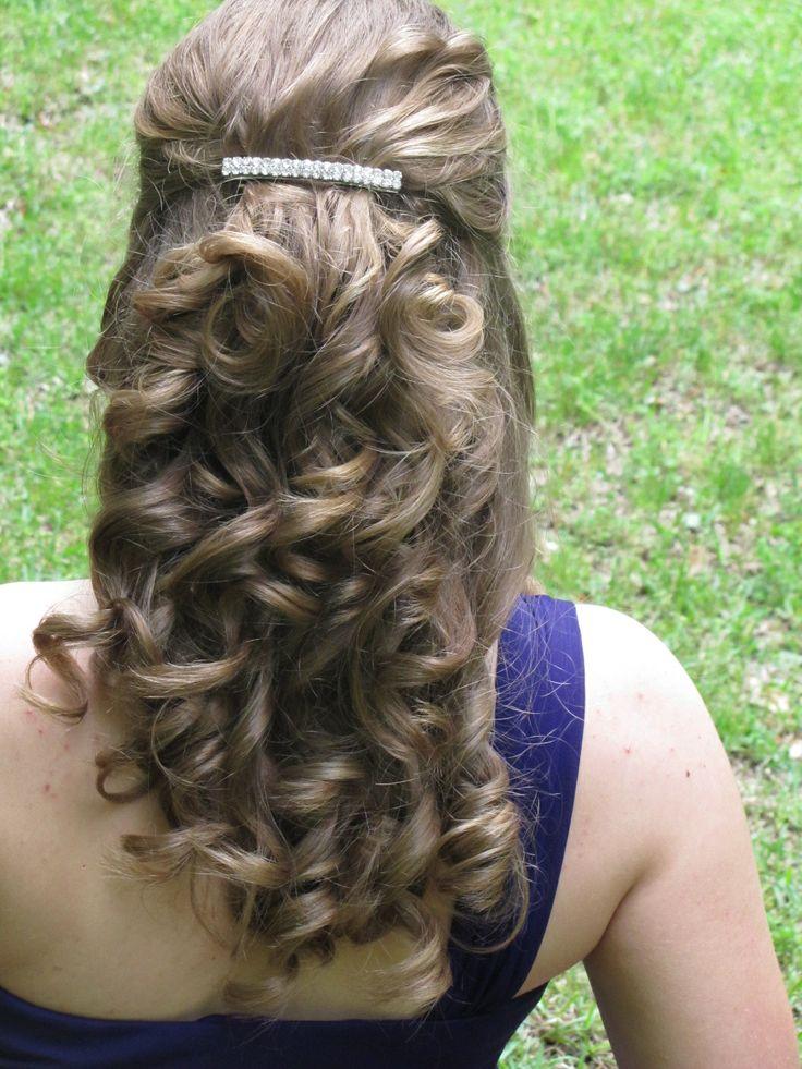 Straightener curls for prom hair!