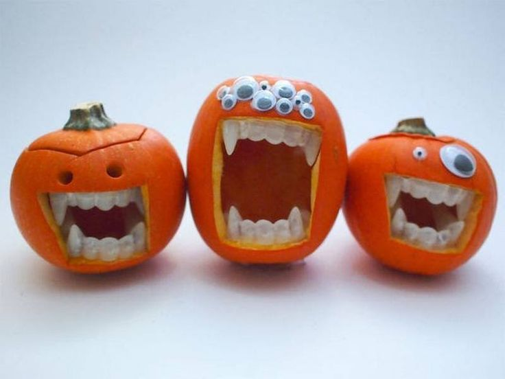 Funny Halloween Pumpkins #halloween #party #parties #food #foods #recipe #recipes #ghouls #cool #fun #great #kids #ideas #ghost #ghosts #dinner #lunch #halloween_foods #treat #treats #yeah #best #gmichaelsalon #funny #teeth #indianapolis www.gmichaelsalon.com