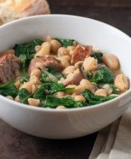EASY SKILLET SAUSAGE AND WHITE BEAN STEW - Marin Mama Cooks