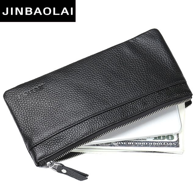 Promotion price JINBAOLAI New Design Genuine Leather Wallet For Men Male Clutch Bag Slim Leather Wallets For IPhone 7 & Card Holder Coin Purses just only $35.18 with free shipping worldwide  #walletsformen Plese click on picture to see our special price for you