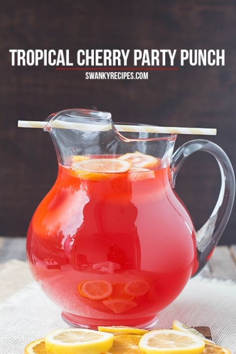 Tropical Cherry Party Punch Chug A Lug Party Drinks