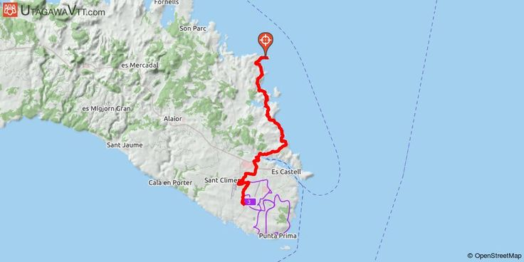 """[Espagne] Minorque - Camins des Cavalls A l'heure où sur VTTtrack, on trouve en ligne des centaines de traces parcourant les Corbières ou le Queyras (et se marchant joyeusement sur les pédales !), il est paradoxal que l'île de Minorque n'en compte pas une seule... Serait-ce que le cycliste français, à force de rouler au vert sur les estives pyrénéennes et les alpages dauphinois, aurait fini par se transformer en mouton ?  Bienvenue, enfin donc, sur le """"Cami de Cavalls"""", itinéraire balisé…"""