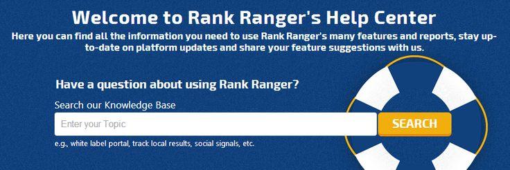 It's like a mini Google just for Rank Ranger!