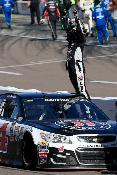 Kevin Harvick Photos Photos - Kevin Harvick, driver of the #4 Jimmy John's Chevrolet, celebrates after winning the NASCAR Sprint Cup Series Good Sam 500 at Phoenix International Raceway on March 13, 2016 in Avondale, Arizona. - NASCAR Sprint Cup Series Good Sam 500