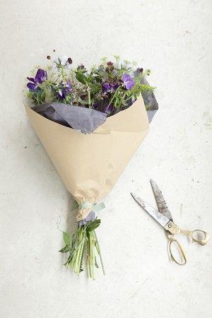 bloemen in papier