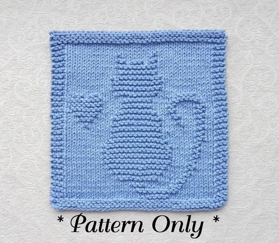 **THIS IS AN INSTANTLY DOWNLOADABLE PATTERN -- in English only -- for knitting the CAT with HEART pictured -- PDF FORMAT** -- >>>>> PERSONAL