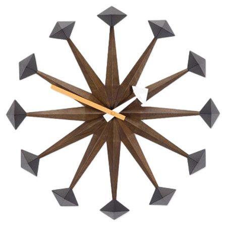 found it at allmodern g nelson polygon wall clock in walnut