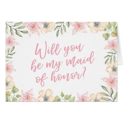 Will you be my Maid of honour wedding card - will you be my bridesmaid gifts  wedding bride bridal