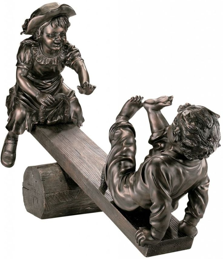 children garden statues. Design Toscano Lighter Than Air Garden Sculpture - The Will Have Those Playful Childhood Memories Rushing Children Statues
