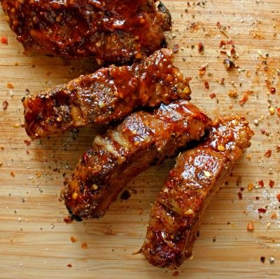Sweet HEAT Ribs Rub. The BEST Ribs Recipe I have EVER Tasted. PERIOD. Recipe Linked!! :) @ABachelorAndHisGrill