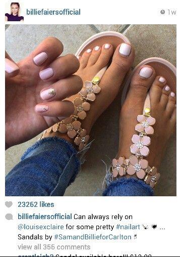 Get your metal petal sandals in now as seen on Billie Faiers instagram