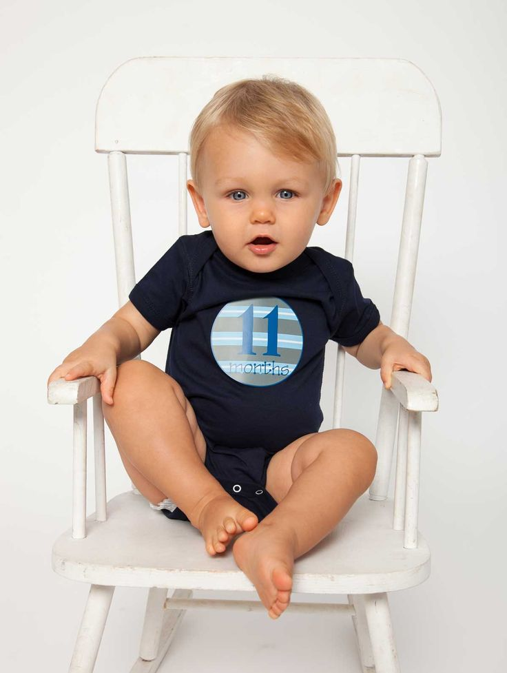 Baby Boy Blue Stickers. 12 monthly bodysuit stickers for your little guy. Navy Blue, Sky blue and Grey are the perfect colors for your modern boy,