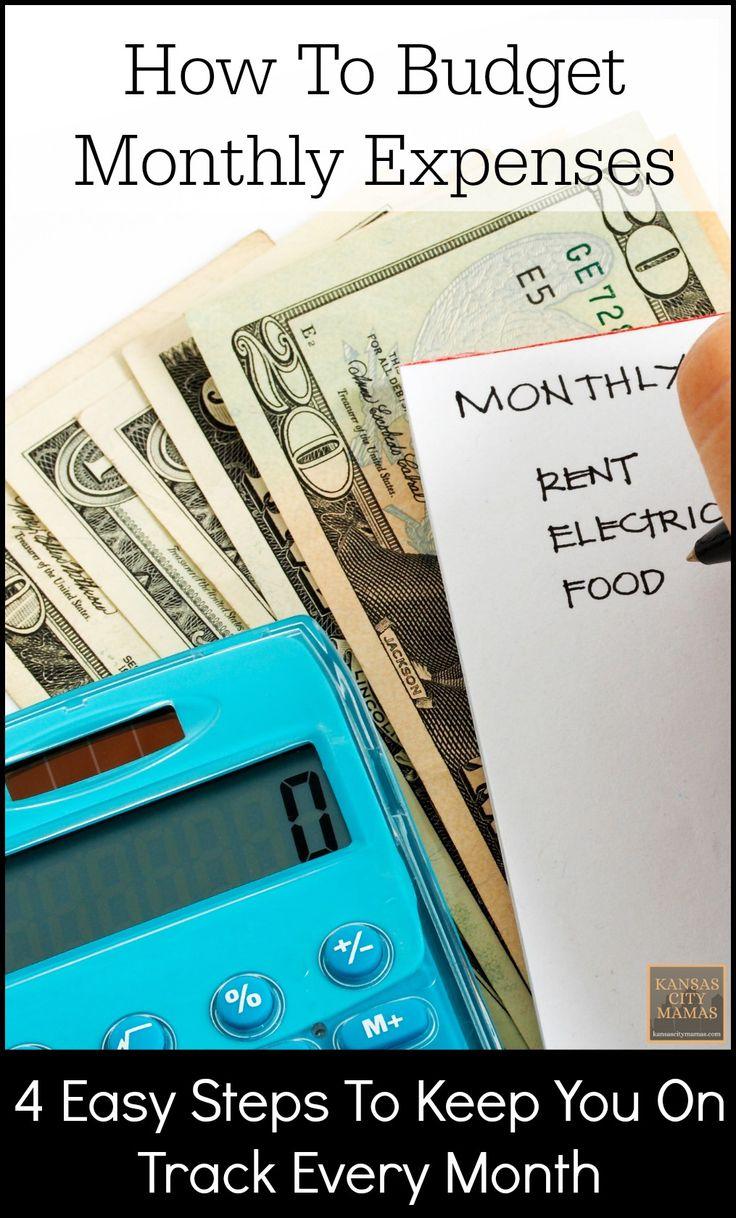 How To Budget Monthly Expenses | KansasCityMamas.com