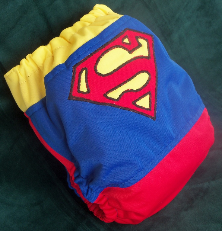 Superman Cloth Diaper...I'm pretty sure this is what my baby will wear on Haloween with a cape :)