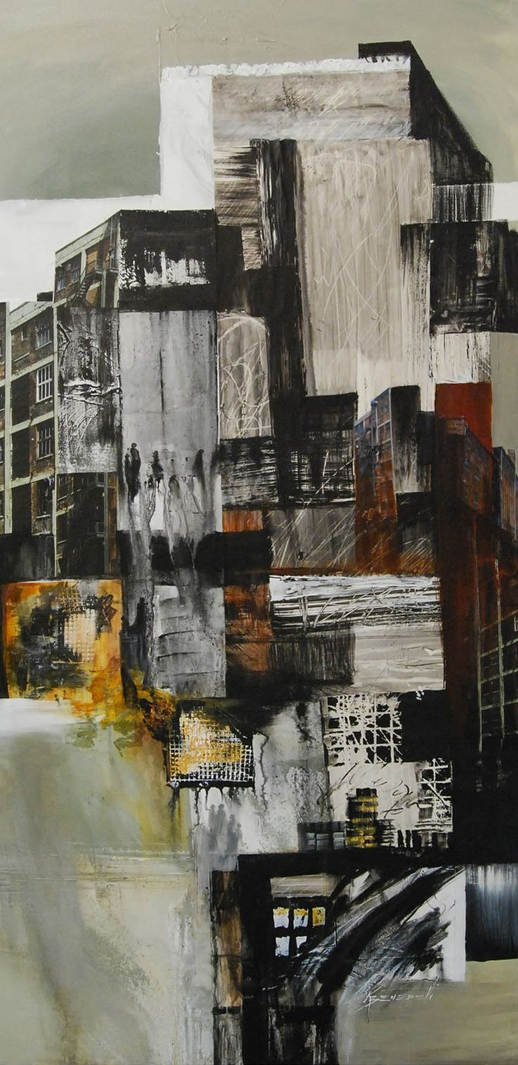 karen beneditti. a city point of view, mixed media on canvas