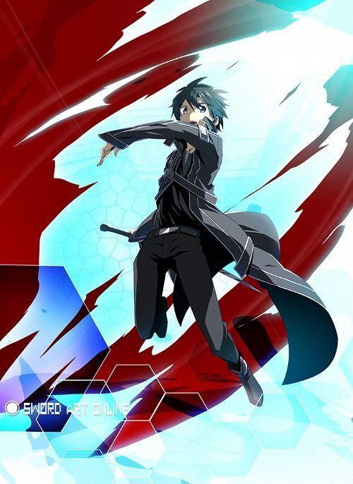 "Kirito (キリト, Kirito?) aka the Black Swordsman is the main protagonist of the Sword Art Online light novel, anime and manga series. His name, Kirito, was taken from his real name Kirigaya Kazuto (桐ヶ谷 和人, Kirigaya Kazuto?). ""Kiri--"" from Kirigaya and ""----to"" from Kazuto. He was chosen as one of the 1,000 beta testers for the closed beta of «Sword Art Online», the first ever VRMMORPG for the NerveGear."