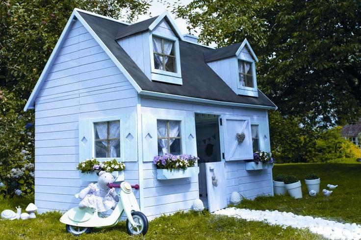 Une cabane romantique am nagement jardin pinterest bricolage - Maison de jardin pour fille metz ...