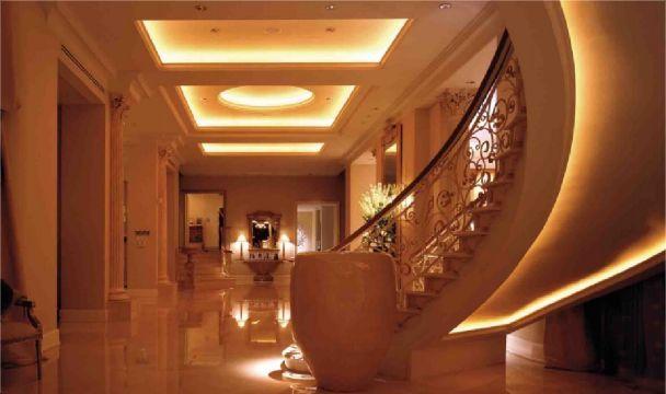 Eleganckie oświetlenie LED wnętrza domu. Comiesięczne rachunki za tradycyjne…