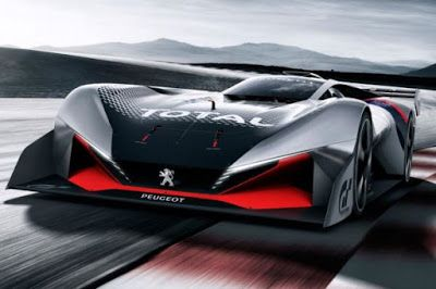 Peugeot reveal sportier L750 R hybrid vision grand turismo