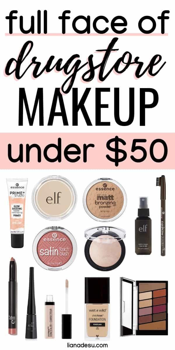 Full Face of Drugstore Makeup – Kit Under $50