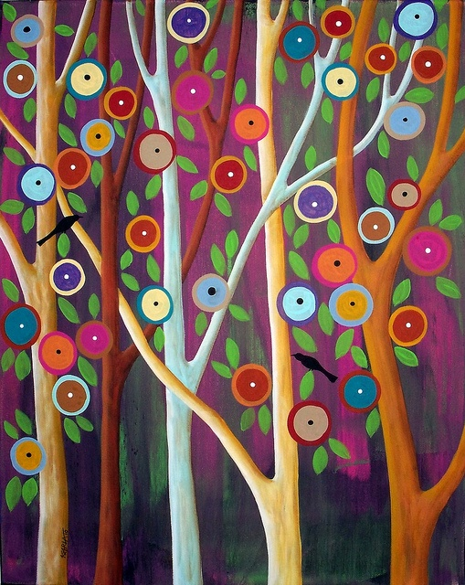 Blooms, Birds and Trees ~ Karla Gerard