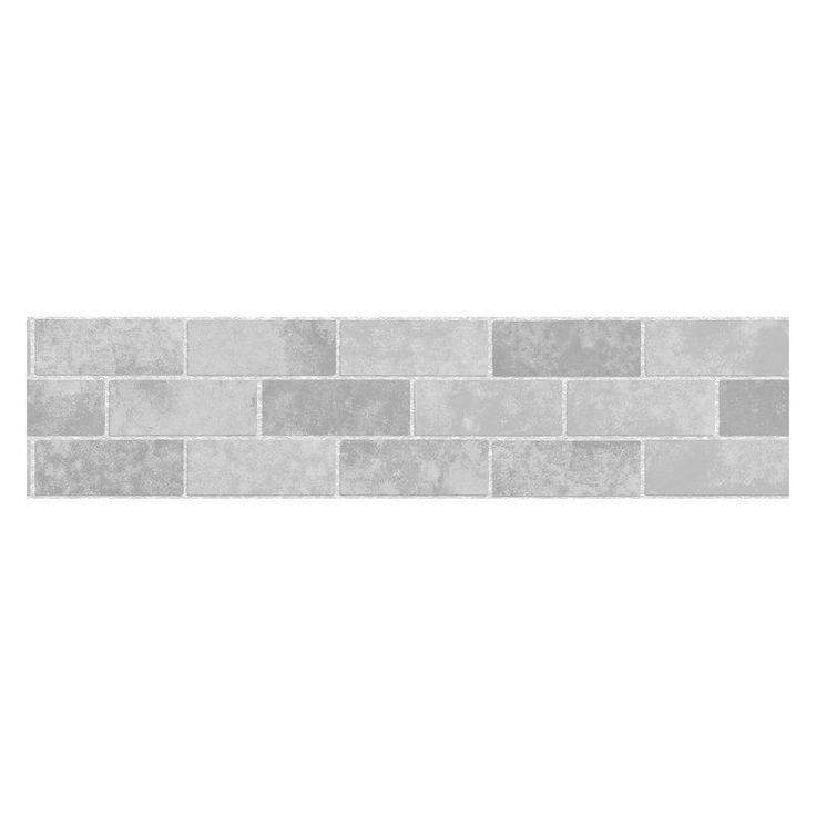 Fun4Walls Stone Tile Peel and Stick Wall Border Set of 2