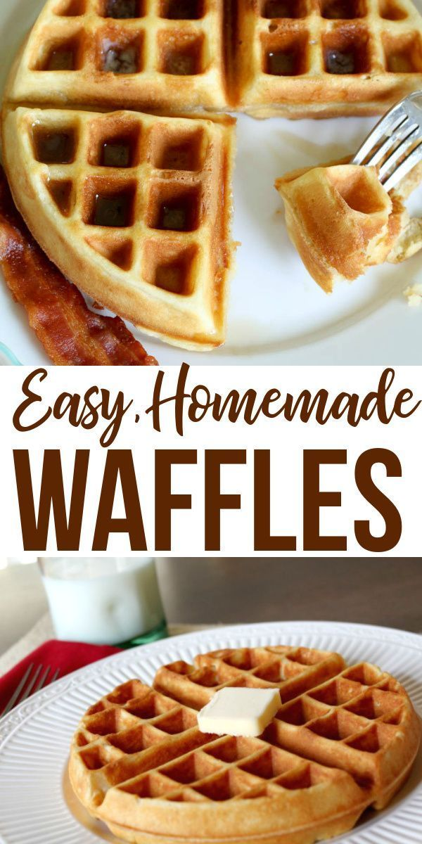 The Perfect Homemade Waffle Recipe In 2020 Homemade Waffles Waffles Recipe Homemade Easy Waffle Recipe