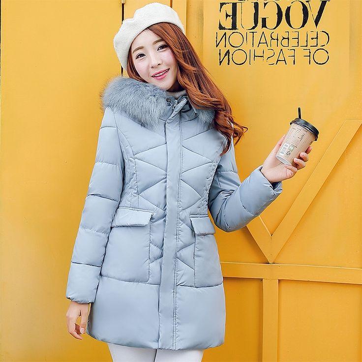 31.71$  Buy now - https://alitems.com/g/1e8d114494b01f4c715516525dc3e8/?i=5&ulp=https%3A%2F%2Fwww.aliexpress.com%2Fitem%2F2016-Winter-Jacket-Women-Large-Fur-Collar-Hooded-Jacket-Thick-Coat-For-Women-Outwear-Parka-Coats%2F32757504206.html - 2017 Winter Jacket Women Large Fur Collar Hooded Jacket Thick Coat For Women Outwear Parka Coats casacos de inverno feminino 31.71$