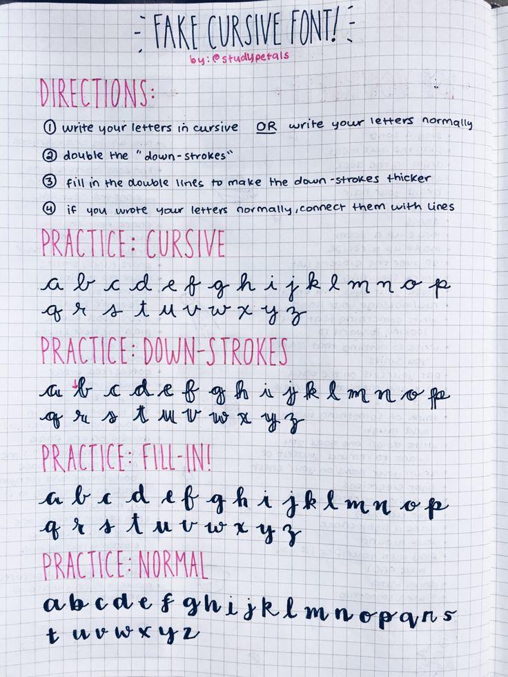 Fake Brush Letters