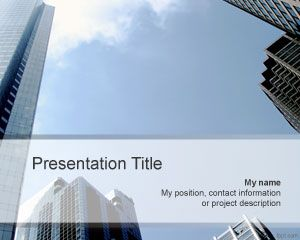 Office PowerPoint template is a free PPT template with buildings that you can download as a free PowerPoint theme for business or commercial use