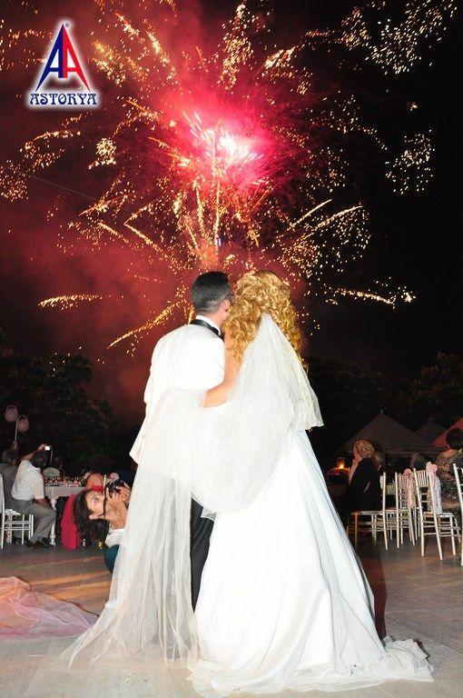 Aslanlar club düğün töreni havai fişek gösterisi 4