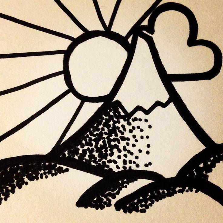 Missing da snow :-( #snow #snowboarding #snowboardeuse #nosnow #donteattheyellowsnow #drawing #illustration #instaart #doodle #doodling #sun #mountains #pyrenees #cauterets  #saintlary #peyragudes #iwantsnow by lninnl182