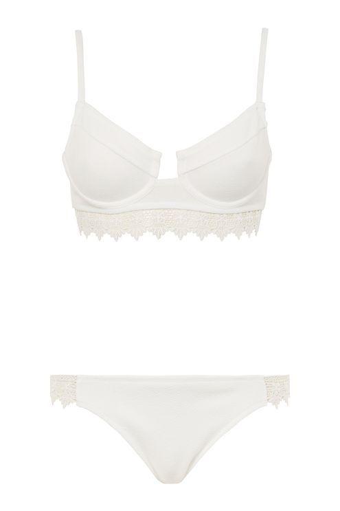 Lace Trim Bikini Set