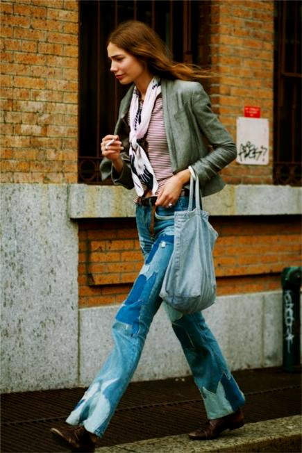 filippa berg. patched jeans.