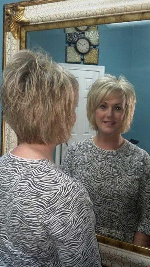 Geschichtete kurze Haarschnitte, die Sie lieben werden